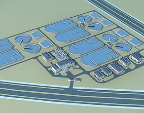 Water and Sewage Treatment Plants 3D