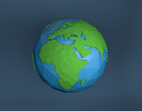 model 3D model Low Poly Earth