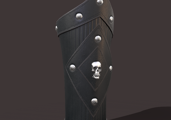 Bracers Pirate Skull