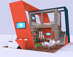 Exhibition Stand 3D model trade expo