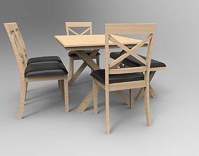 Dining Set furniture mdf 3D
