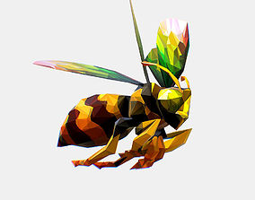 Animated Low Poly Art HoneyBee 3D asset
