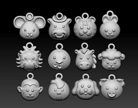 3D printable model Pendants of Chinese zodiac signs