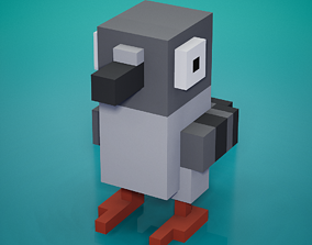 3D asset Voxel - Pigeon