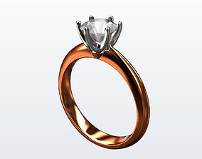 engagement ring 3D printable model classic