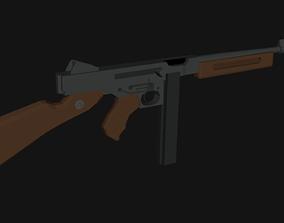 3D model Thompson m1 Low Poly Isometric