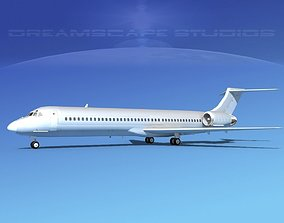 3D model McDonnell Douglas MD-87 Bare Metal