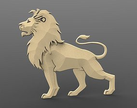 signs-logos Lion bas-relief 3D print model