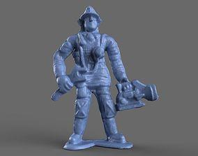 3D Firefighter Mechanic Toy Miniature