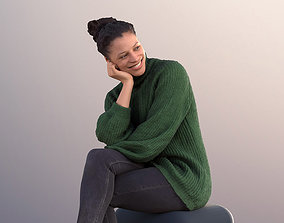 Diana 10882 - Casual Smiling Woman Sitting 3D model