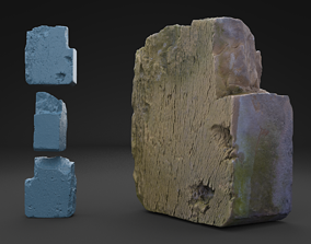 3D model Scanned Old Red Brick HIGH POLY