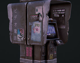 3D model Cyberpunk Phone Booth