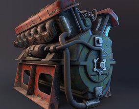 engine 3D asset