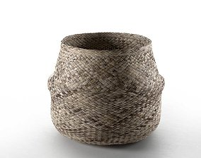 country Wicker Basket 3D model
