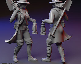 Grave Robber female miniature 3D printable model