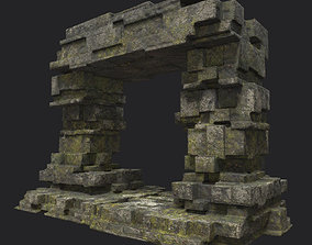 3D model Low poly Ruin Temple Block 08 181116