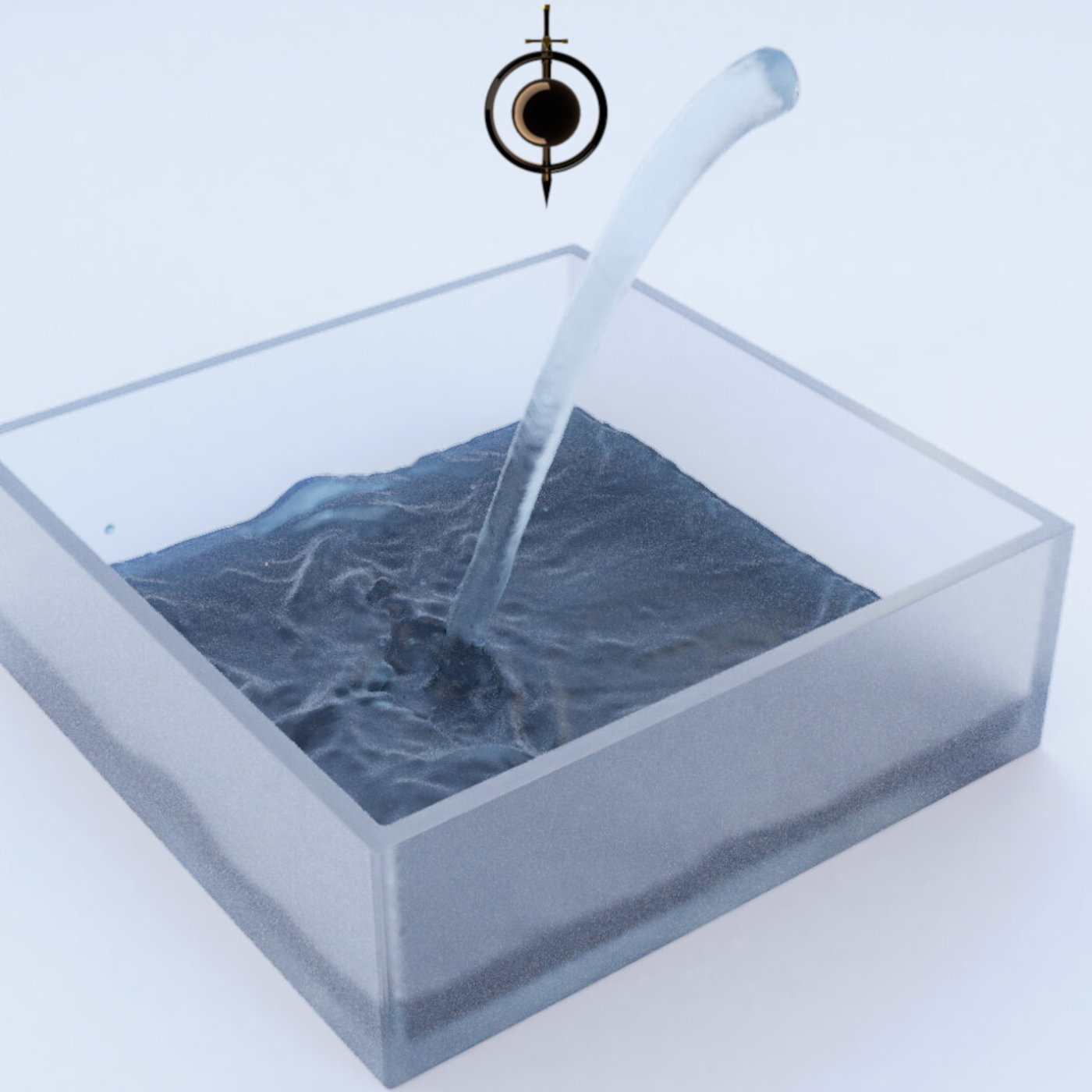 Frosted glass water simulation