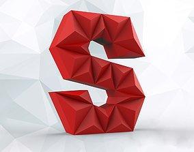 3D print model Lowpoly letter S
