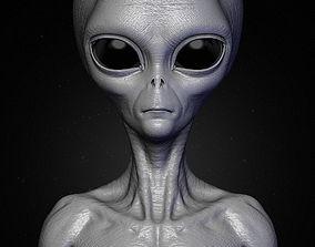 3D Realistic Alien 8 Sculpt