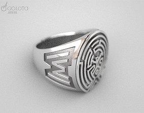 3D print model WestWorld maze Ring 9s