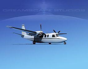 Rockwell Turbo Shrike Commander 690 3D model