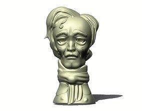 Allan Poe Toon Bust 3D print model
