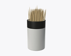3D model Toothpick with holder