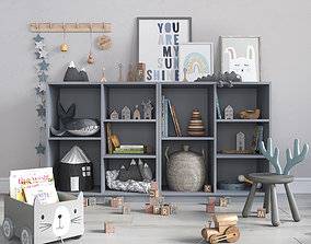 A large set of decor for a nursery in calm 3D