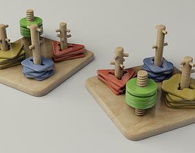 Children Educational Toy Square 3D model