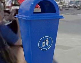 Waste bin plastic 3D asset