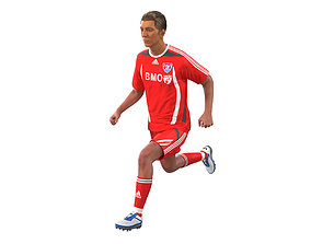 Soccer Player Rigged 2 3D model
