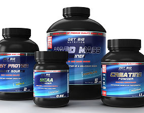 3D model Nutrition Supplements Pack