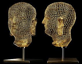3D model buddha golden wire
