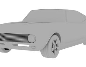 Chevrolet camaro 69 low poly 3D model