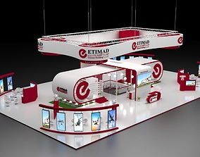 3D Exhibition Stand Booth 620 sqm