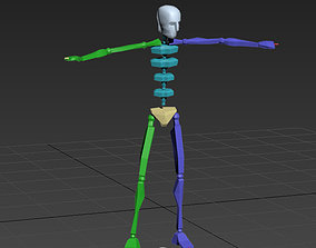 3D model yellow red card 41-6in1 motioncapture