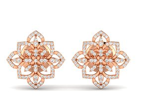 precious engagement Women earrings 3dm render detail