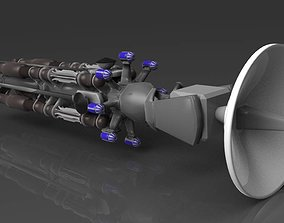 3D model Space probe ship ion