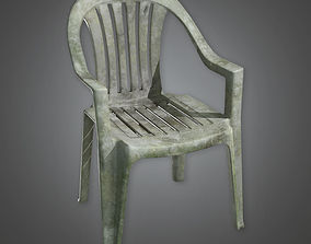 3D asset Lawn Chair TLS - PBR Game Ready