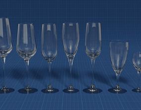 3D PBR Set of glasses