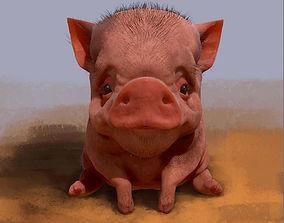 cartoon 3D model Piggy