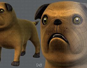 Dog base cartoonV04 3D model