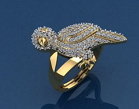 3D print model Bird Set Ring and Pendant