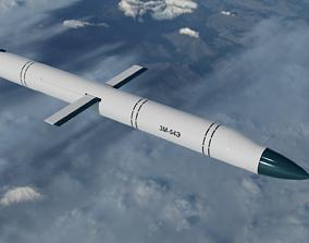 3M-54E Kalibr Anti Ship Missile 3D asset