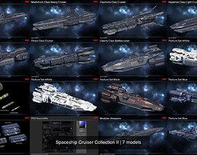 Spaceship Cruiser Collection II 3D model PBR
