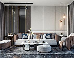 3D model Luxury Modern Top Roof Interior scene