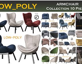 ARMCHAIR Collection 10 Pieces 3D model