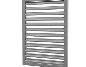 3D model louver window persiana blind low poly