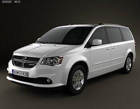 3D model Dodge Grand Caravan 2011