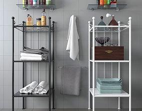 IKEA RONNSKAR rack with decor 3D model